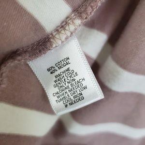 LOFT Sweaters - Loft Pink White Cardigan Hoodie Size Large Women's